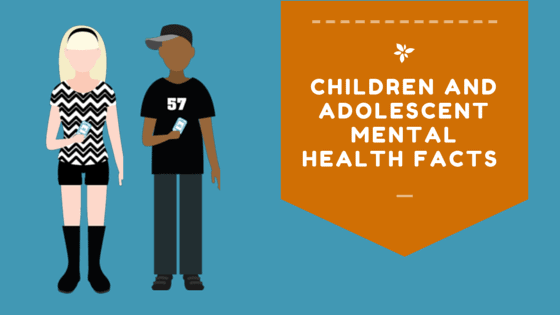 Children and adolescent mental health facts (infographic)