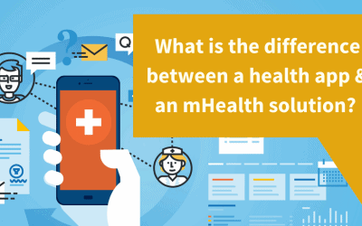 What Is the difference between a health app and an mhealth solution?
