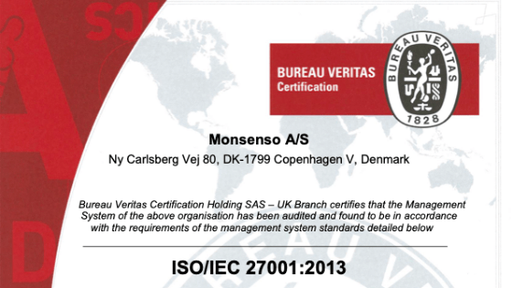 Monsenso receives ISO 27001 re-certification