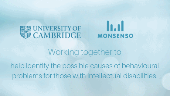 Monsenso partnered with University of Cambridge to support research into individuals with intellectual disabilities